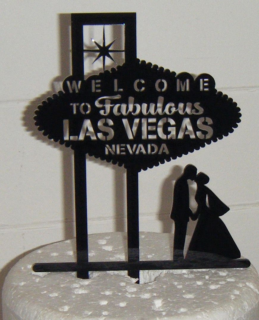 las vegas wedding cake topper las vegas cake topper 16725