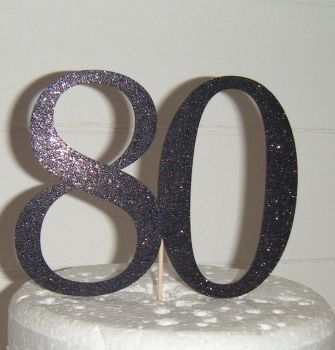 80 Cake Topper 2  (Sold design Exactly as shown)