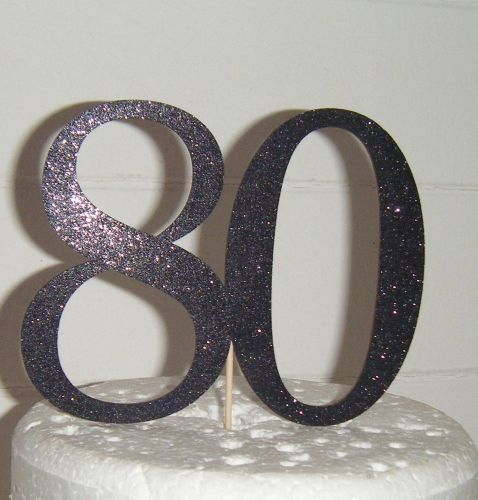 80 Cake Topper 2