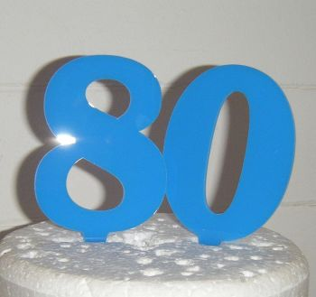 80 Cake Topper 3  (Sold design Exactly as shown)