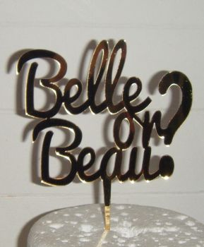 Belle or Beau? Baby Shower Cake Topper