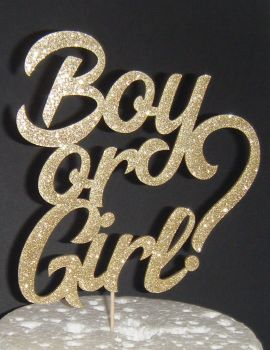 Boy or Girl? baby Shower Cake topper
