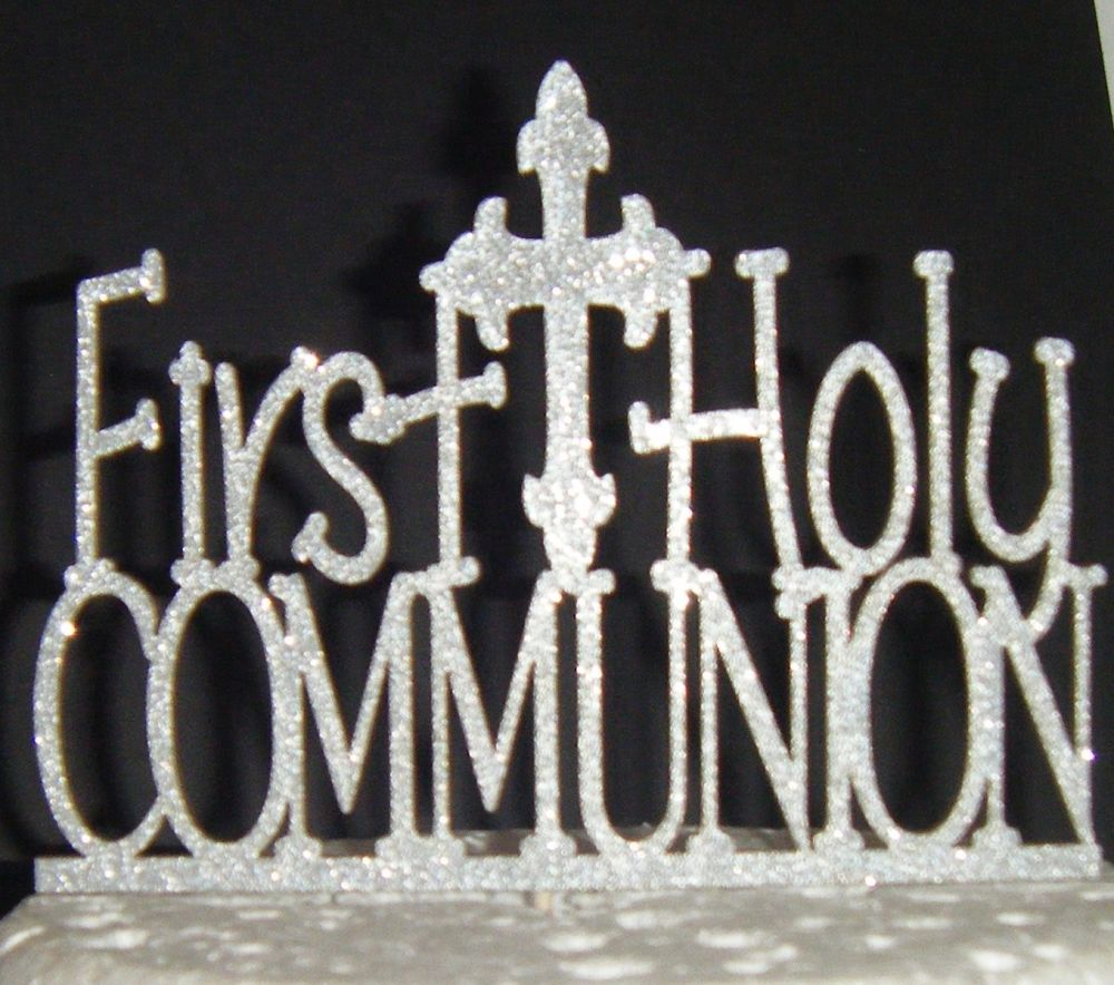 First Holy Communion Cake Topper 2 With Cross