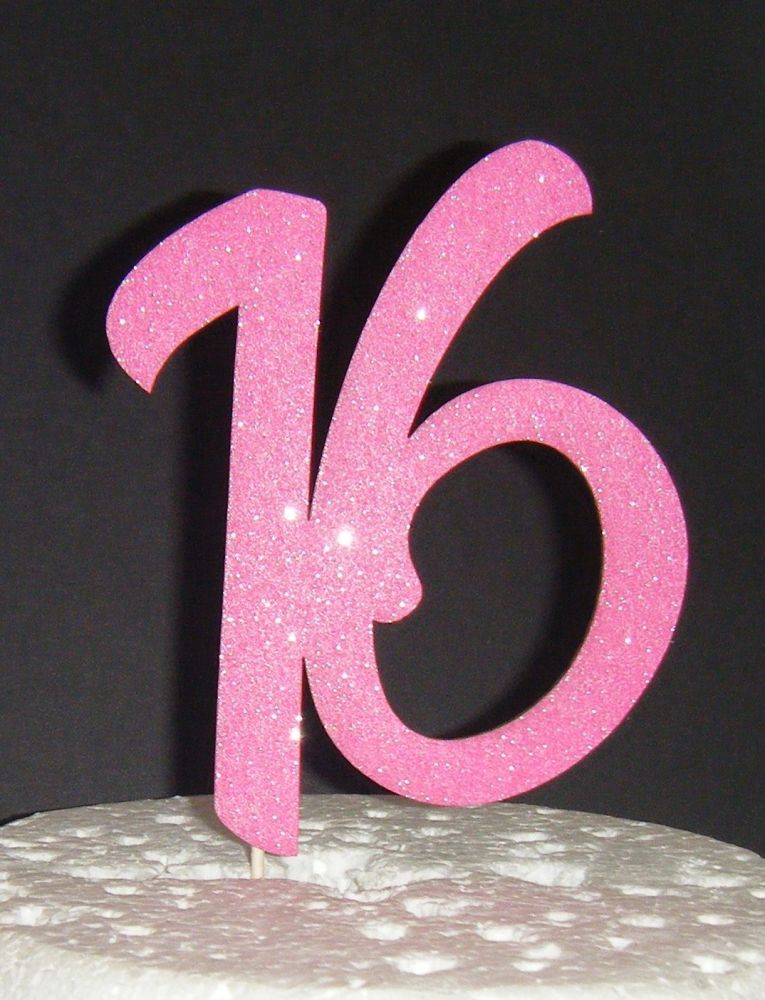 16 Cake Topper 3  (Sold design Exactly as shown)