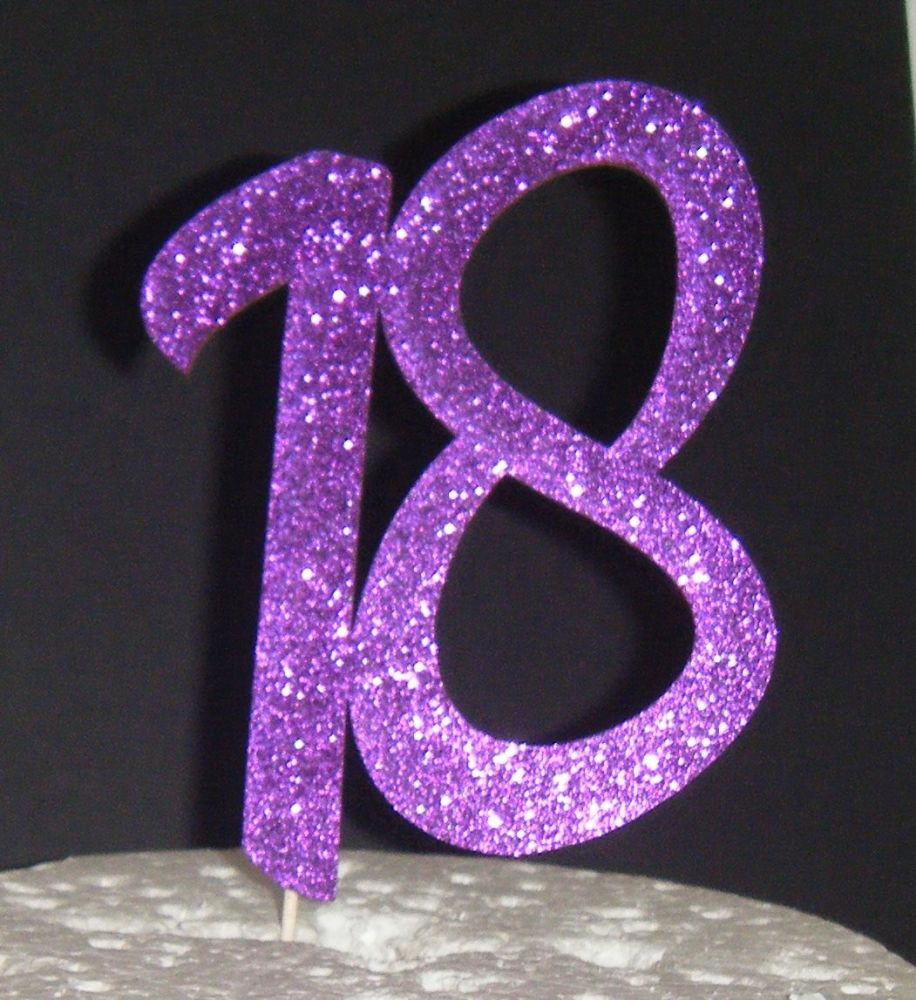 18 Cake Topper 6   (Sold design Exactly as shown)