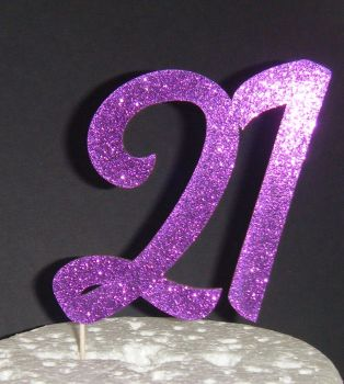 21 Cake Topper 4  (Sold design Exactly as shown)