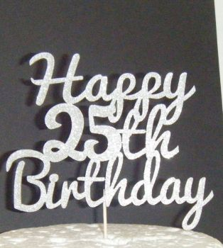 Happy 18th, 21st, 30th, 40th, 50th, or ANY number Birthday Cake Topper 5 pac
