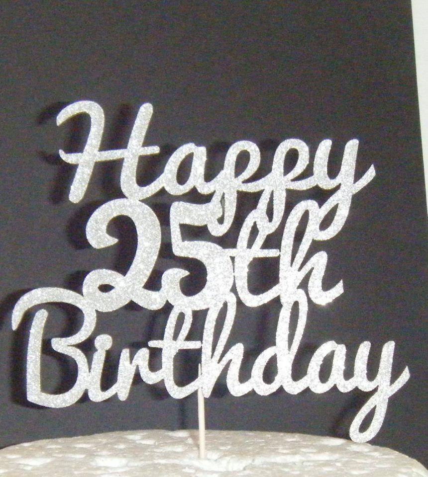 Happy 18th, 21st, 30th, 40th, 50th, 60th Birthday Cake Topper 5