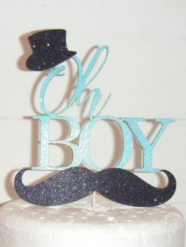 Oh Boy Double card Topper as shown Shower Cake topper