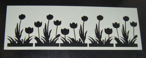 Tulip flowers Cake decorating stencil Airbrush Mylar Polyester Film