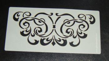 Ornate swirl Floral pattern airbrush Stencil