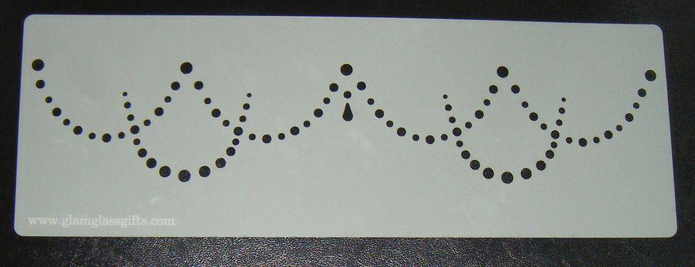 Drape dots design 3 cake airbrush craft Stencil