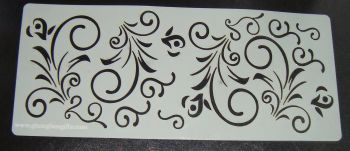 Swirl Floral Cake Stencil Large 5 inch deep
