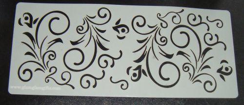 Swirl Floral Cake Stencil Large 5 inch deep
