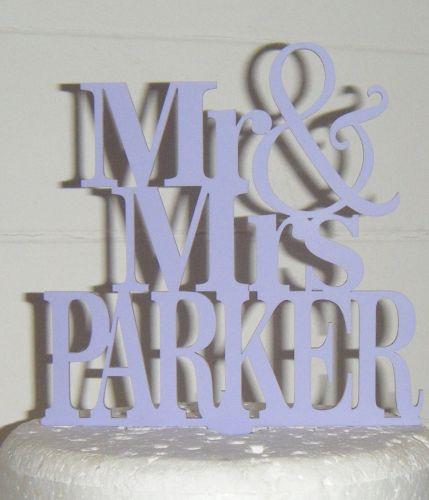 Mrs + Mr Name Cake Topper