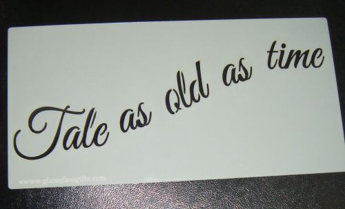 Tale as Old as Time words Cake decorating stencil set Airbrush Mylar Polyes