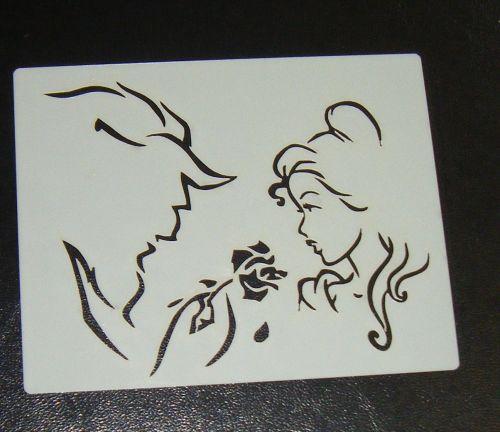 Beauty Beast Cake Stencil
