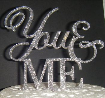 You and Me  Cake Topper