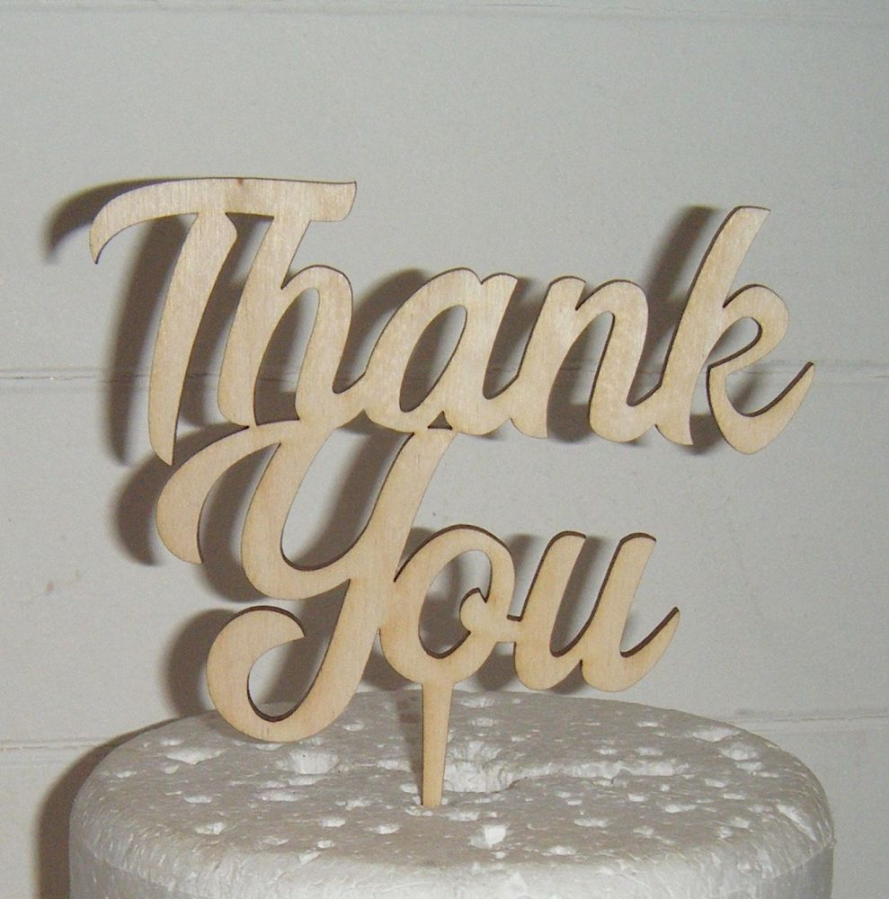 Thank You  Cake Topper 2