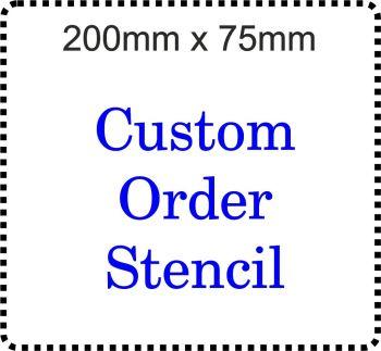 Custom order Cake Bespoke Stencil 8 inch by 3 inch deep