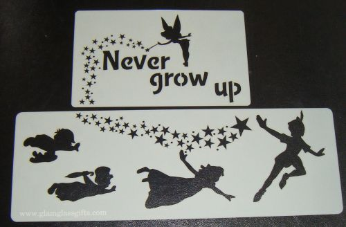 Peter Pan, Wendy, Kids Flying stars Tinker bell Cake Craft Airbrush Stencil