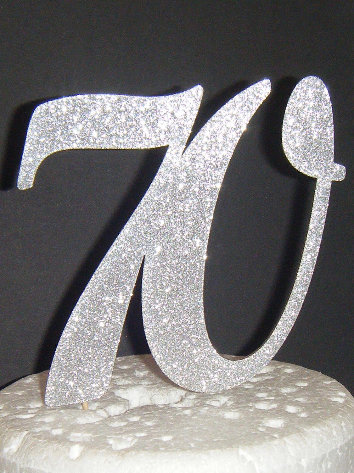 70 Cake Topper 2