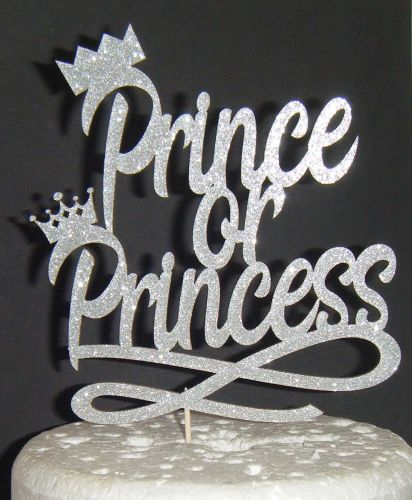 Prince or Princess baby Shower Cake topper