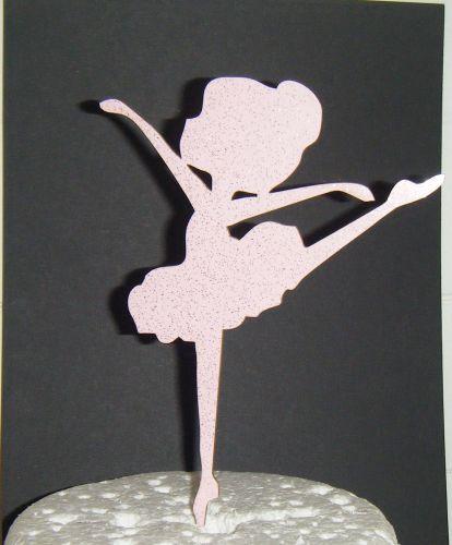 Ballerina Silhouette Cake Topper  2