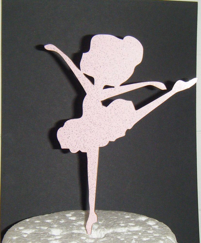Ballerina Girl Silhouette Cake Topper  2