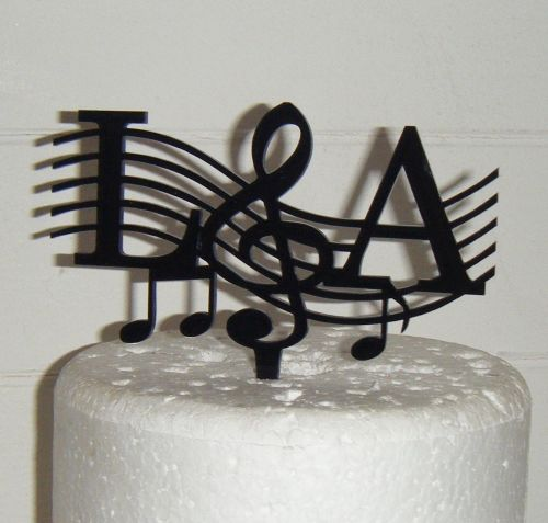 Music notes Initials Letters Topper