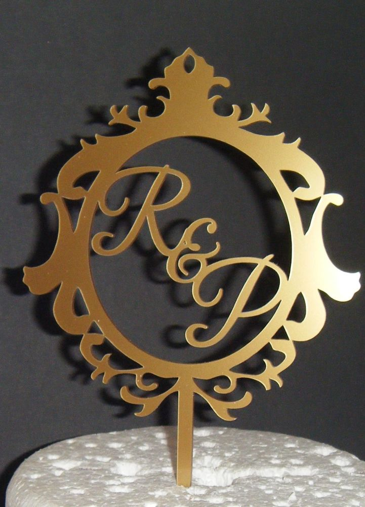 Ornate Frame Initials Letters Topper