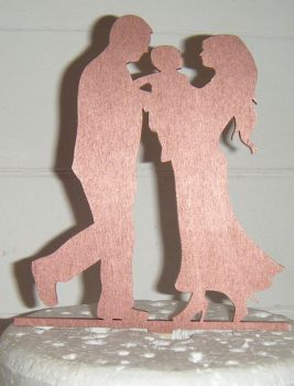 Wedding couple family Silhouette Cake Topper 3