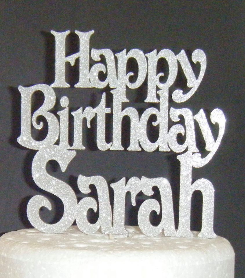 Happy Birthday Name Cake Topper