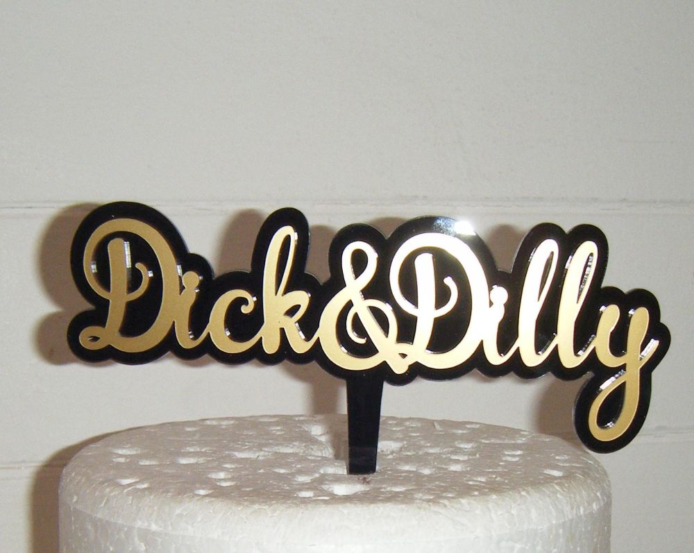 Double Colour Acrylic Topper - Custom Made To Order