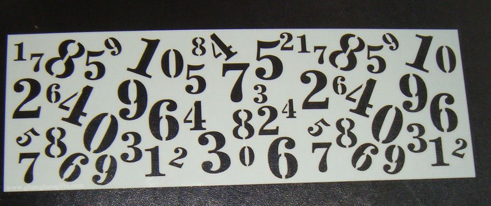 Mixed Numbers Cake decorating stencil  Airbrush Mylar Polyester Film