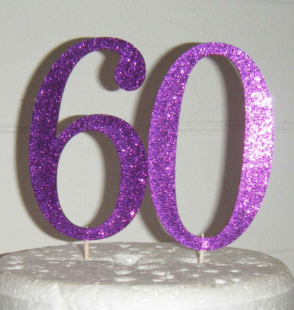 60 Cake Topper 4