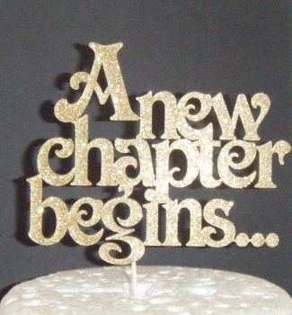 A new chapter begins Cake Topper Style 2