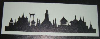 Buddist Temple skyline Cake stencil