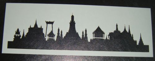 Buddist Temple skyline Safari Cake stencil
