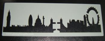 London Modern skyline Cake stencil
