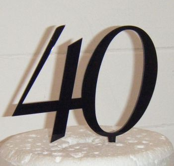40 Cake Topper 5