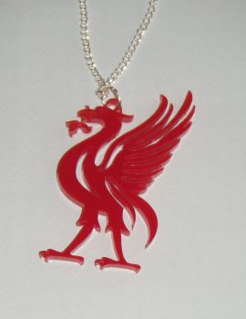 Red LiverBird Acrylic Pendant Necklace