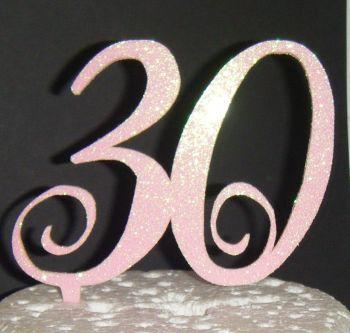 30 Cake Topper 2