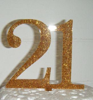 21 Cake Topper 1