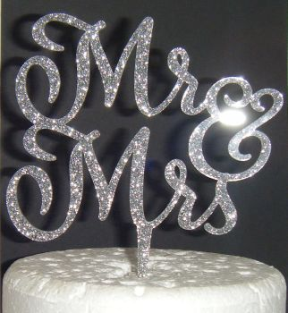 Mr + Mrs Cake Topper  style 6  (or same sex)