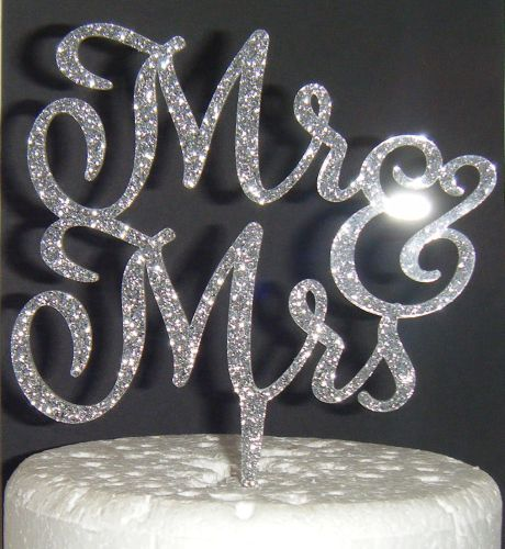 Mr + Mrs Cake Topper  style 6