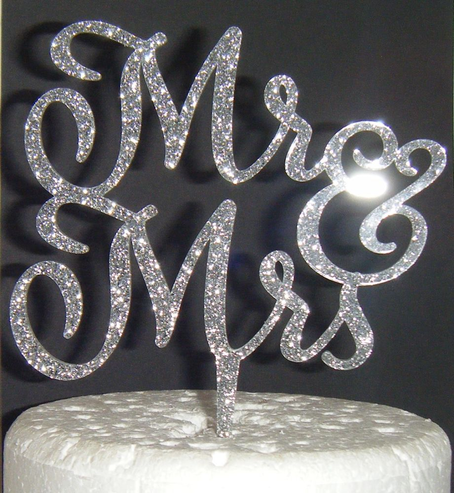 Mr + Mrs Cake Topper  style 6