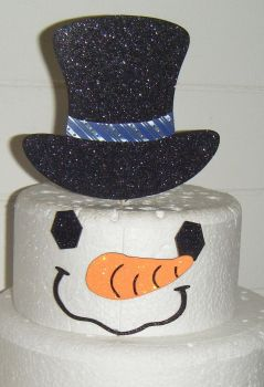 Snowman set Silhouette Cake Topper