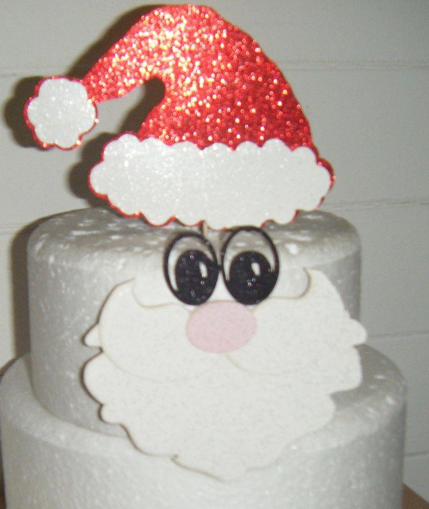 Santa set Silhouette Card Cake Topper