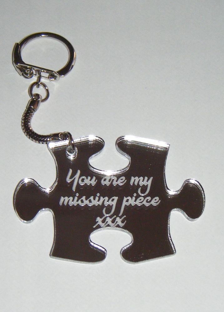 You are my missing piece jigsaw keyring